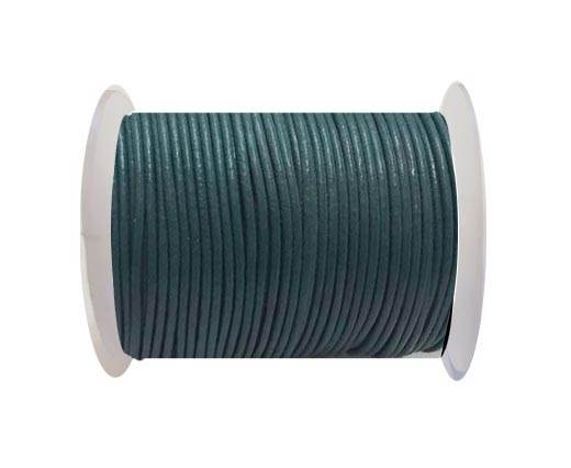 Round Leather Cord SE/R/25-Green Grey - 2mm
