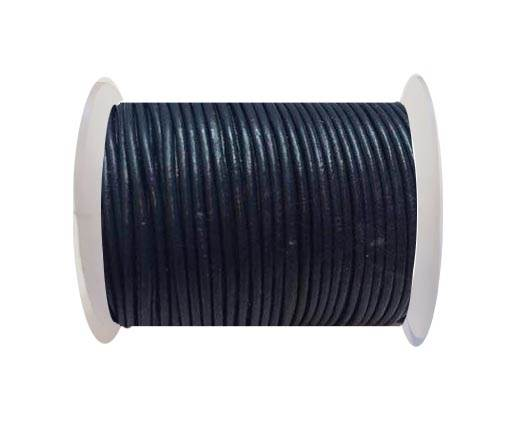 Round Leather Cord SE/R/Dark Blue - 3mm