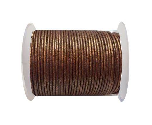 Round Leather Cord SE/R/Copper - 3mm