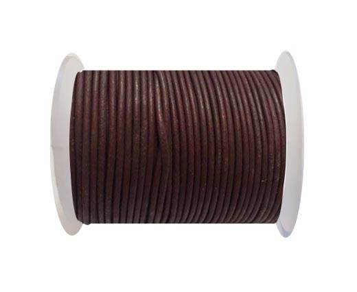 Round Leather Cord SE/R/Bordeaux-3mm
