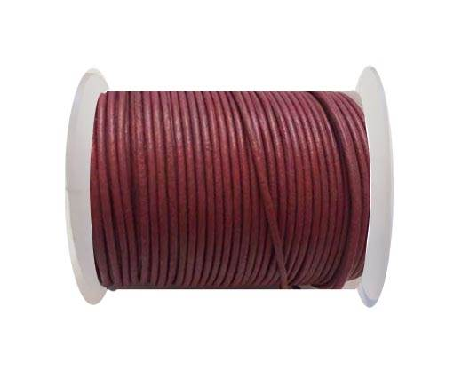 Round Leather Cord SE/R/Fuchsia-3mm
