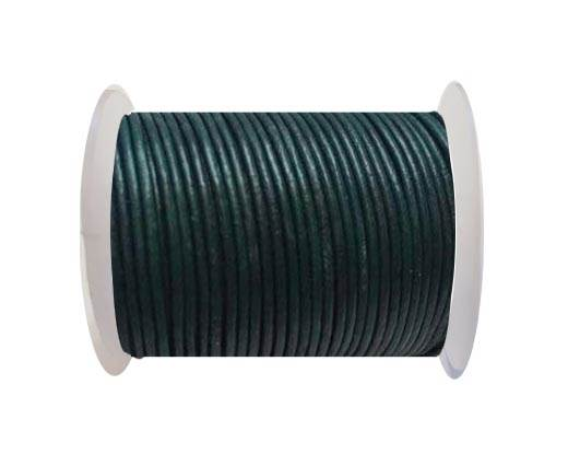 Round Leather Cord SE/R/Blue Green - 3mm