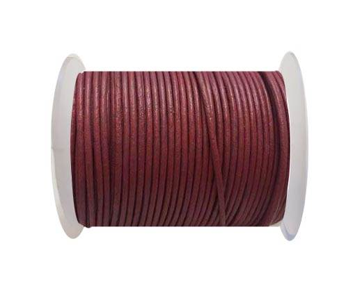 Round Leather Cord SE/R/Dark Pink-3mm