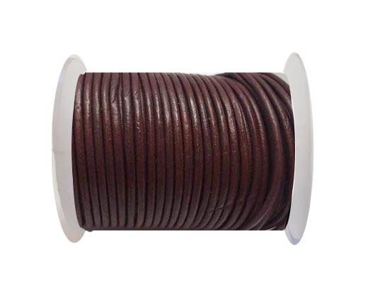 Round Leather Cord SE/R/12-Red Wine - 3mm