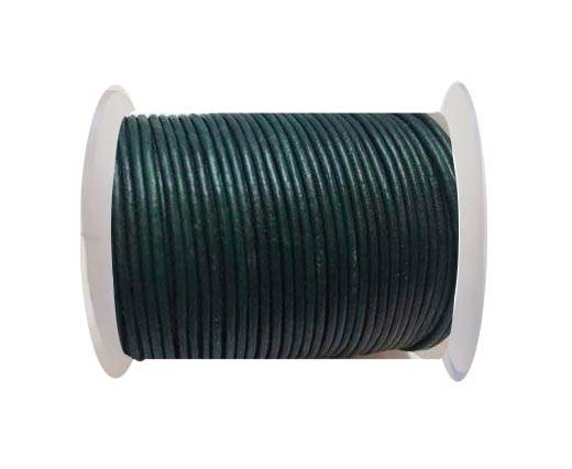 Round Leather Cord SE/R/25-Green Grey - 3mm