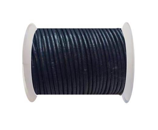 Round Leather Cord -1mm - SE R Dark Blue
