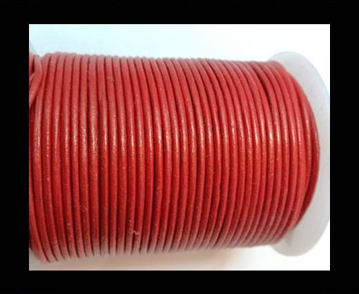 Buy Round Leather Cord 1,5mm - METALLIC RED at wholesale prices