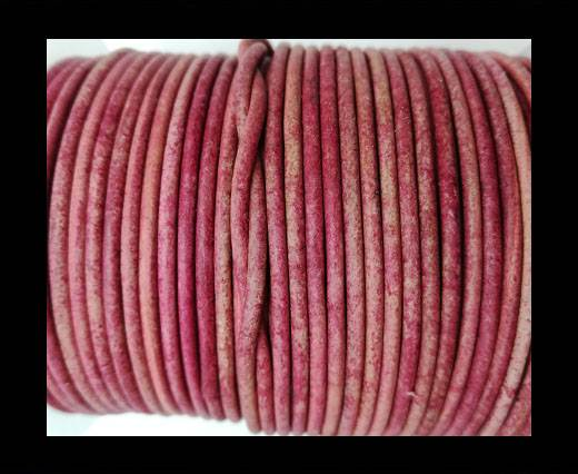 Round Leather Cord-1,5mm-vintage pink