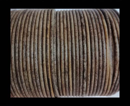 Buy Round Leather Cord-1,5mm-vintage taupe at wholesale prices