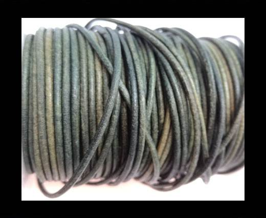 Buy Round Leather Cord-1,5mm-vintage tourmaline at wholesale prices