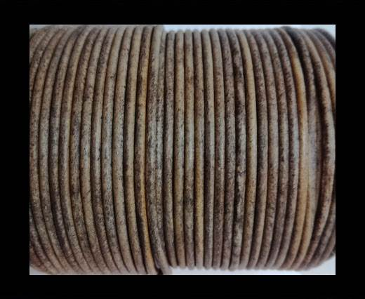 Buy Round leather cord-2mm-vintage taupe at wholesale prices