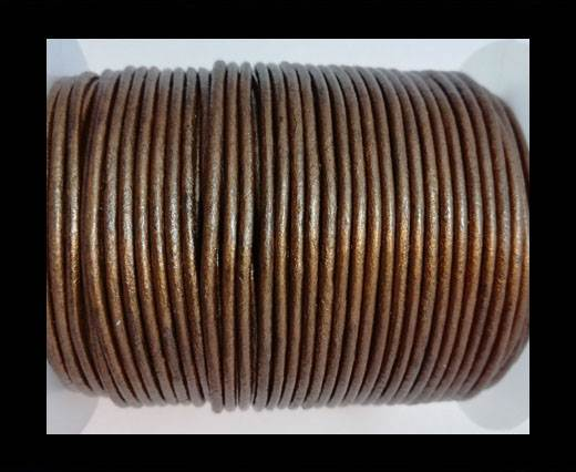 Buy Round leather cord-2mm-METALLIC TAMBA at wholesale prices