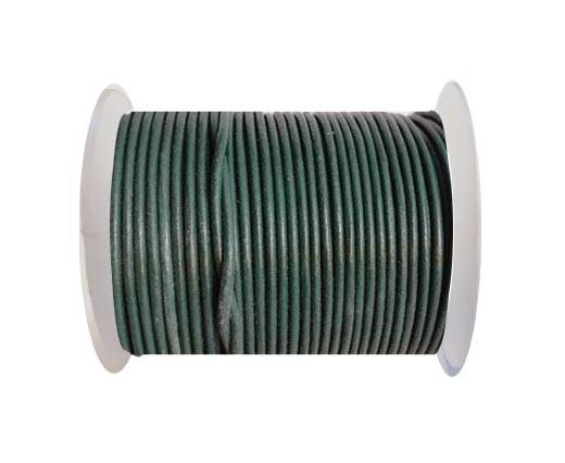 Round leather cord 2mm-ARMY GREEN