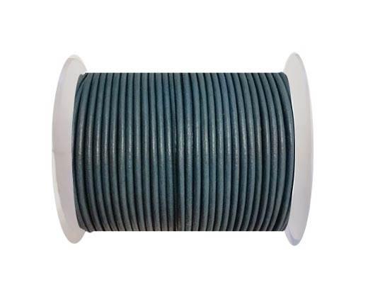 Round leather cord 2mm-BLUISH GREY