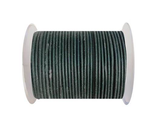 Round leather cord 2mm-BOTTLE GREEN