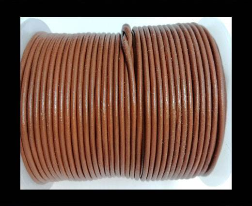 Round leather cord 2mm-BURNT SIENNA