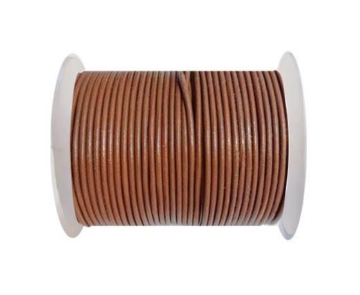 Round leather cord 2mm-BURNT SIENNA