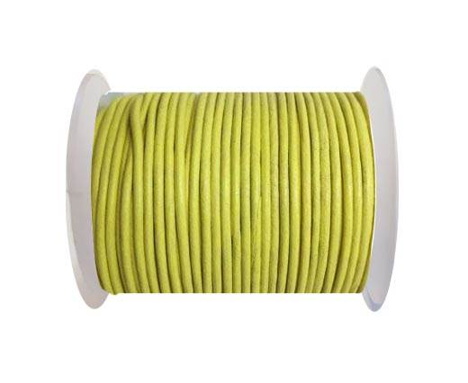 Round leather cord 2mm-CANARY