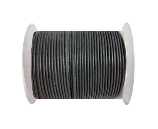 Round leather cord 2mm-MEDIUM GREY