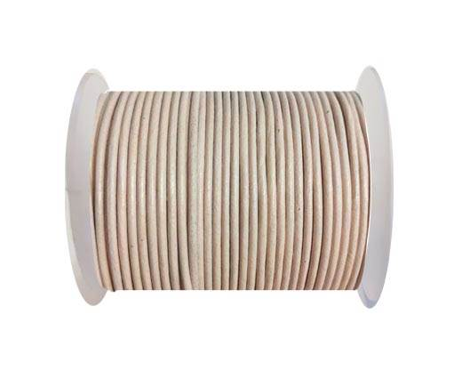 Round leather cord 2mm-PEACH