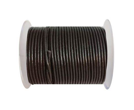 Round leather cord 2mm-TAMBA