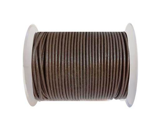 Round leather cord 2mm-TAN