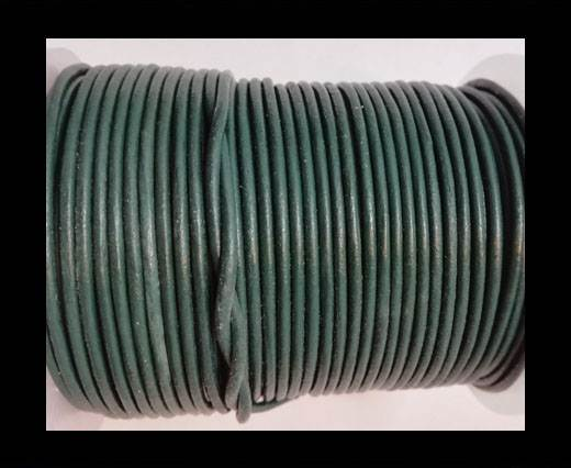 Buy Round Leather Cord-1,5mm-ARMY GREEN at wholesale prices