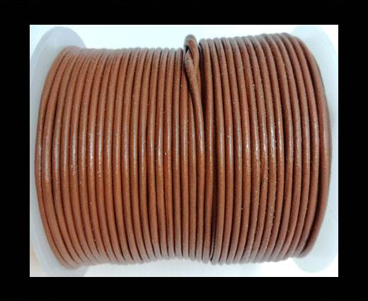 Buy Round Leather Cord-1,5mm-plain-BURNT SIENNA at wholesale prices