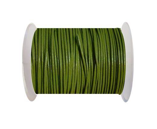 Round Leather Cord -1mm - PISTACCHIO