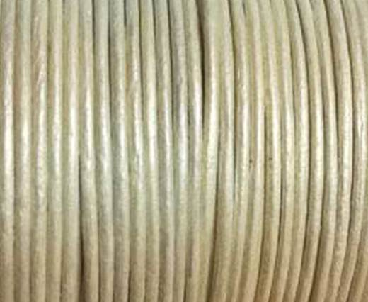Round Leather Cord -1mm- METALLIC PEARL