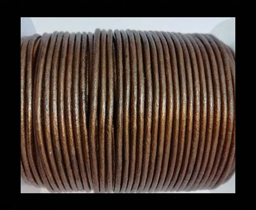 Buy Round Leather Cord -5mm - METALLIC TAMBA at wholesale prices