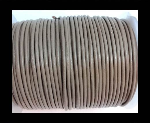 Round Leather Cord -5mm - TAUPE