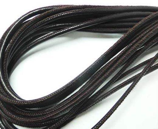 Round stitched nappa leather cord 3mm Violet