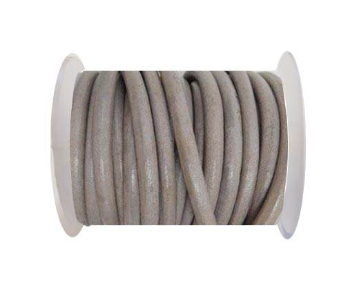 Round Leather Cord -  L.Taupe-5mm