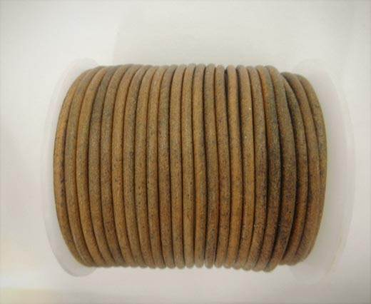 Round Leather Cord - SE. Vintage Taupe  - 3mm