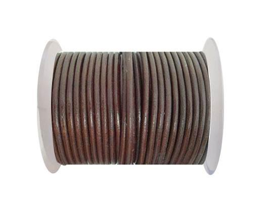Round Leather Cord - SE.Bordeaux - 4mm