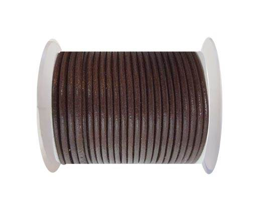 Round Leather Cord - SE.Brown  - 3mm