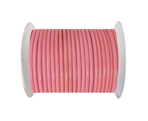 Round Leather Cord - SE.Dark  Pink  - 3mm