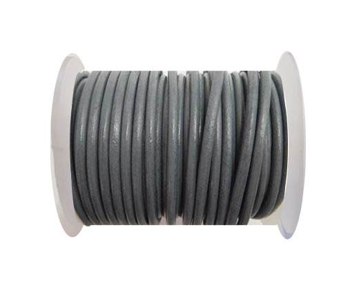 Round Leather Cord - SE.Grey - 4mm