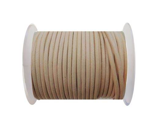 Round Leather Cord - SE.Light Peach   - 3mm