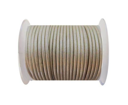 Round Leather Cord -  SE.M.Beige - 3mm