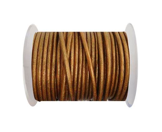 Round Leather Cord 4mm-SE.M.Copper