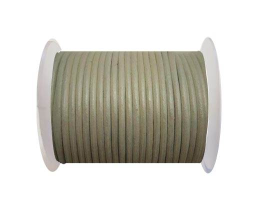 Round Leather Cord - SE.M.Silver  - 3mm