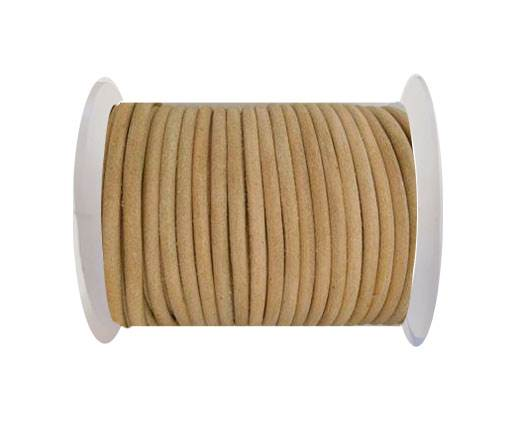 Round Leather Cord - SE.Natural - 4mm