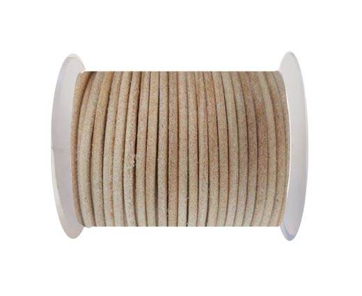 Round Leather Cord - SE.Natural  - 3mm