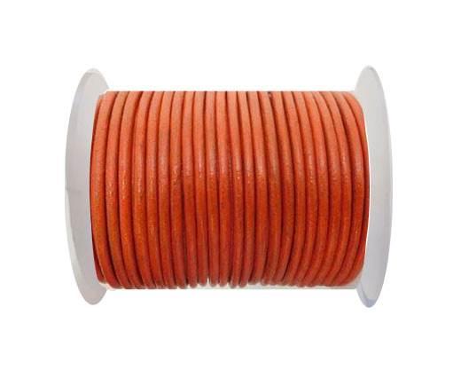 Round Leather Cord - SE.Orange - 4mm
