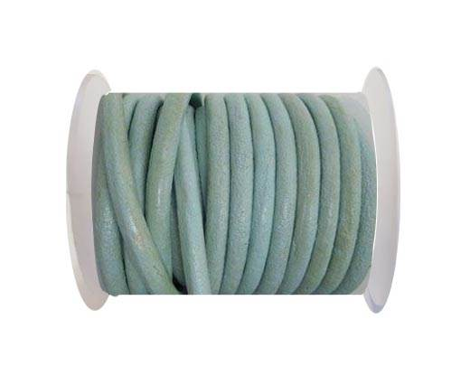 Round Leather Cord - SE.Pastel Blue -5mm