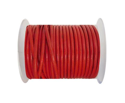 Round Leather Cord - SE.Red - 4mm
