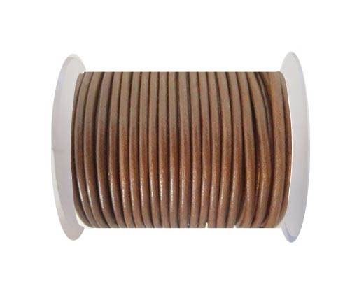 Round Leather Cord - SE.Tan - 3mm