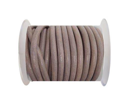 Round Leather Cord - SE.Taupe -5mm
